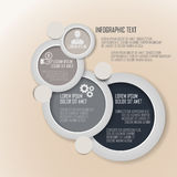 Presentación del negocio en diseño del círculo Imagen de archivo libre de regalías