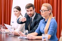 Presentación del negocio en la reunión Imagen de archivo