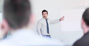 Presentación del negocio en la reunión corporativa foto de archivo