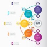 Presentación del negocio o infographic con 5 opciones Dyna del vector Fotografía de archivo libre de regalías