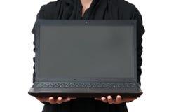 Presentación del ordenador portátil fotografía de archivo libre de regalías
