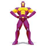 Presentación del super héroe aislada en el fondo blanco stock de ilustración