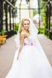 Presentación elegante de la novia imagenes de archivo