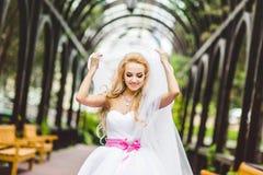 Presentación elegante de la novia foto de archivo libre de regalías
