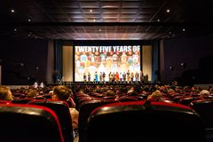 Presentación exclusiva de la película Foto de archivo libre de regalías