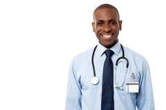 Presentación feliz confiada del médico imágenes de archivo libres de regalías