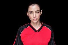 Presentación femenina del atleta Fotos de archivo libres de regalías
