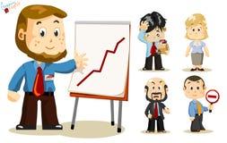 Presentación. Hombres de negocios stock de ilustración