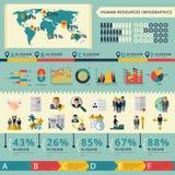 Presentación infographic del informe de los recursos humanos Imagen de archivo