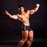 Presentación joven del bodybuilder Fotos de archivo