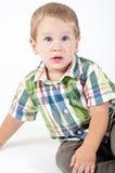 Presentación joven del muchacho Foto de archivo