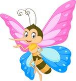 Presentación linda de la historieta de la mariposa Fotografía de archivo libre de regalías