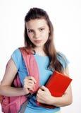 Presentación linda joven del adolescente alegre contra Foto de archivo
