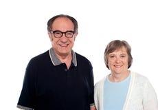 Presentación madurada de los pares. Marido y esposa Fotografía de archivo libre de regalías