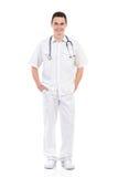 Presentación masculina joven de la enfermera Fotos de archivo