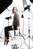 Presentación modelo hermosa joven Foto de archivo