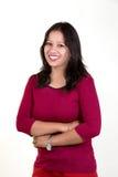 Presentación modelo india contra el fondo blanco Imagen de archivo libre de regalías