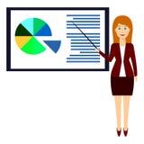 Presentación 3, mujer del negocio stock de ilustración