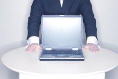 Presentación, ordenador portátil imagen de archivo