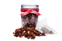 Presentación orgánica natural seca del té Fotos de archivo