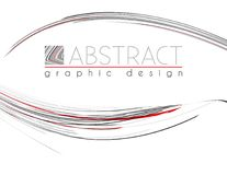 presentación Plantilla con las tiras del negro, rojas y del gris Vector Imagen de archivo