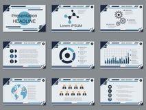 Presentación profesional del negocio, plantilla del vector de la presentación Imagen de archivo