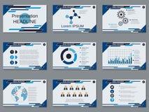 Presentación profesional del negocio, plantilla del vector de la presentación Foto de archivo libre de regalías