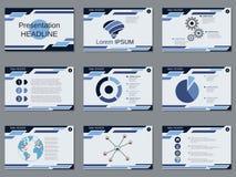 Presentación profesional del negocio, plantilla del vector de la presentación Imagenes de archivo