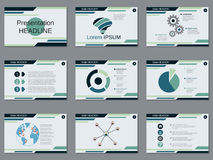 Presentación profesional del negocio, plantilla del vector de la presentación Imágenes de archivo libres de regalías