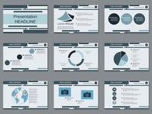 Presentación profesional del negocio, plantilla del vector de la presentación libre illustration