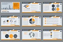 Presentación profesional del negocio, plantilla del vector de la presentación stock de ilustración
