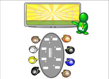 Presentación solar de la energía eólica stock de ilustración