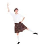 Presentación sonriente del bailarín Imagen de archivo