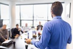 Presentación del negocio en la reunión corporativa Imagen de archivo