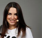Presentador alemán Moderatorin Julia Bauer de la TV Foto de archivo