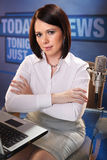 Presentador de noticias Foto de archivo
