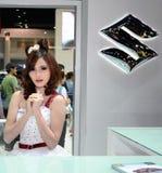 Presentador no identificado de las hembras en Suzuki Fotografía de archivo libre de regalías