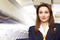 Presentadora de aire (azafata) Foto de archivo libre de regalías