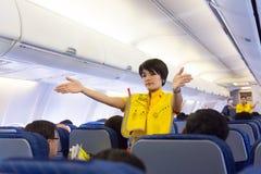 Presentadora de aire tailandesa Fotos de archivo