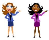 Presentadores de las mujeres de negocios Fotografía de archivo