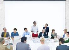Presentatie Collectieve Diversi van de bedrijfsmensen de Collectieve Vergadering stock afbeeldingen