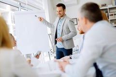 Presentatie en opleiding in bedrijfsbureau royalty-vrije stock afbeeldingen