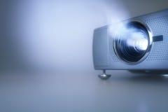Presentatie met lcd videoprojector en exemplaarruimte royalty-vrije stock afbeelding