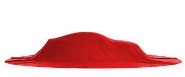 Presentatie van de nieuwe auto. Zijaanzicht vector illustratie