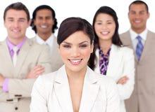 Presentatie van een concurrerend commercieel team Stock Foto's