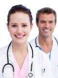 Presentatie van een jong medisch team Stock Foto's