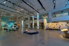 Presentatie van een nieuwe conceptenauto zonder een bestuurder Self Driving Car Volkswagen Sedric stock foto