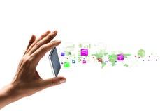 Presentatie van gadget Stock Afbeelding