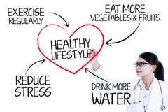 Presentatie van gezond levensstijlconcept Royalty-vrije Stock Fotografie
