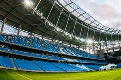 Presentatie van het gebied bij het onlangs geconstrueerde Dynamostadion in Moscowe Royalty-vrije Stock Afbeelding